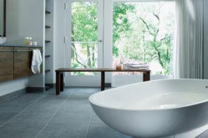 Bathroom protected by Window Film