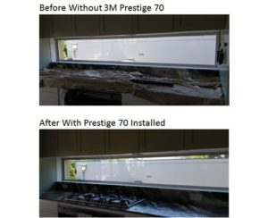 Before-After Photos of Window with 3M Prestige 70