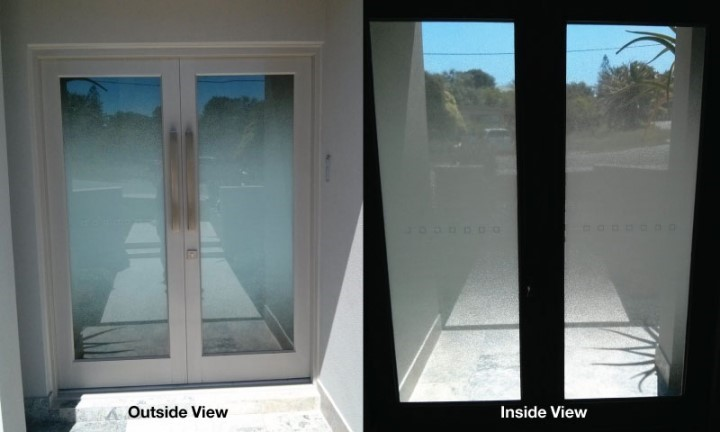 Inside & Out Frosted Window Film