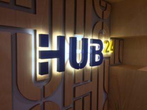 Internal Office Sign Illuminated