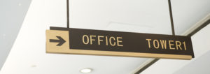 Business signage directional office tower