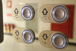 Braille signage elevator buttons
