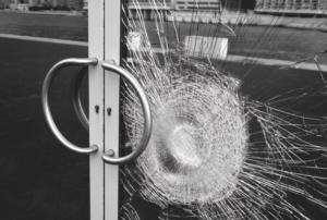 Security window film to prevent glass smash