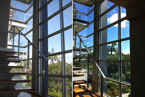 residential window film before and after