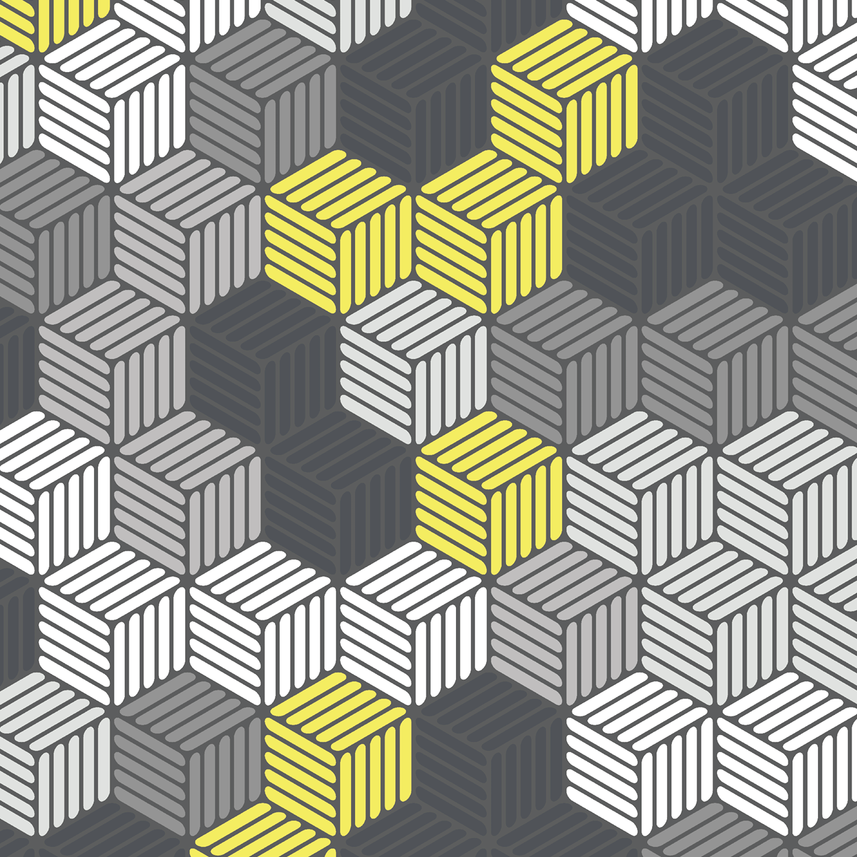 Isometric Hashed Cube 2