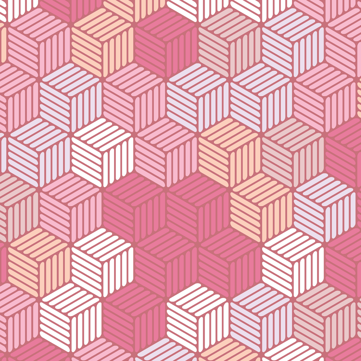 Isometric Hashed Cube 6