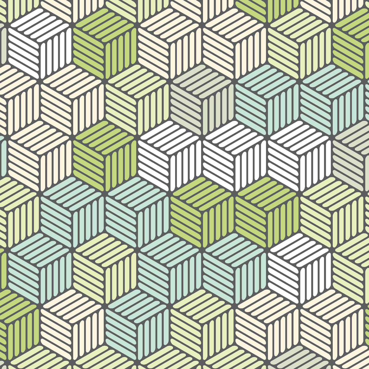 Isometric Hashed Cube 7