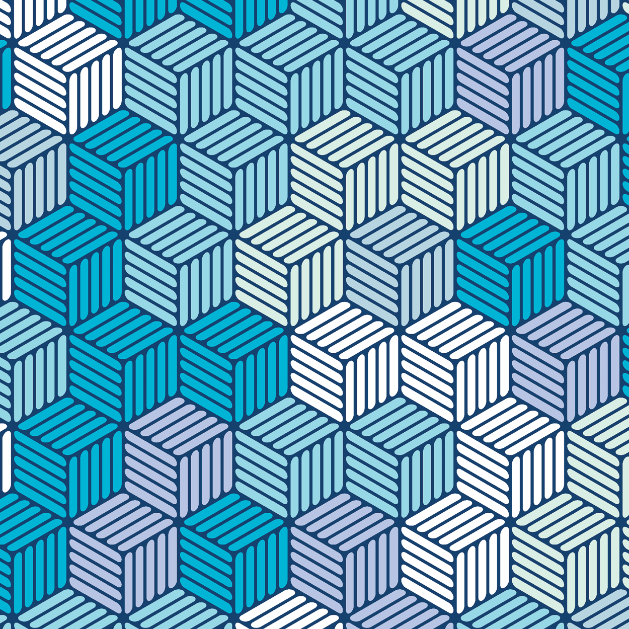 Isometric Hashed Cube 8