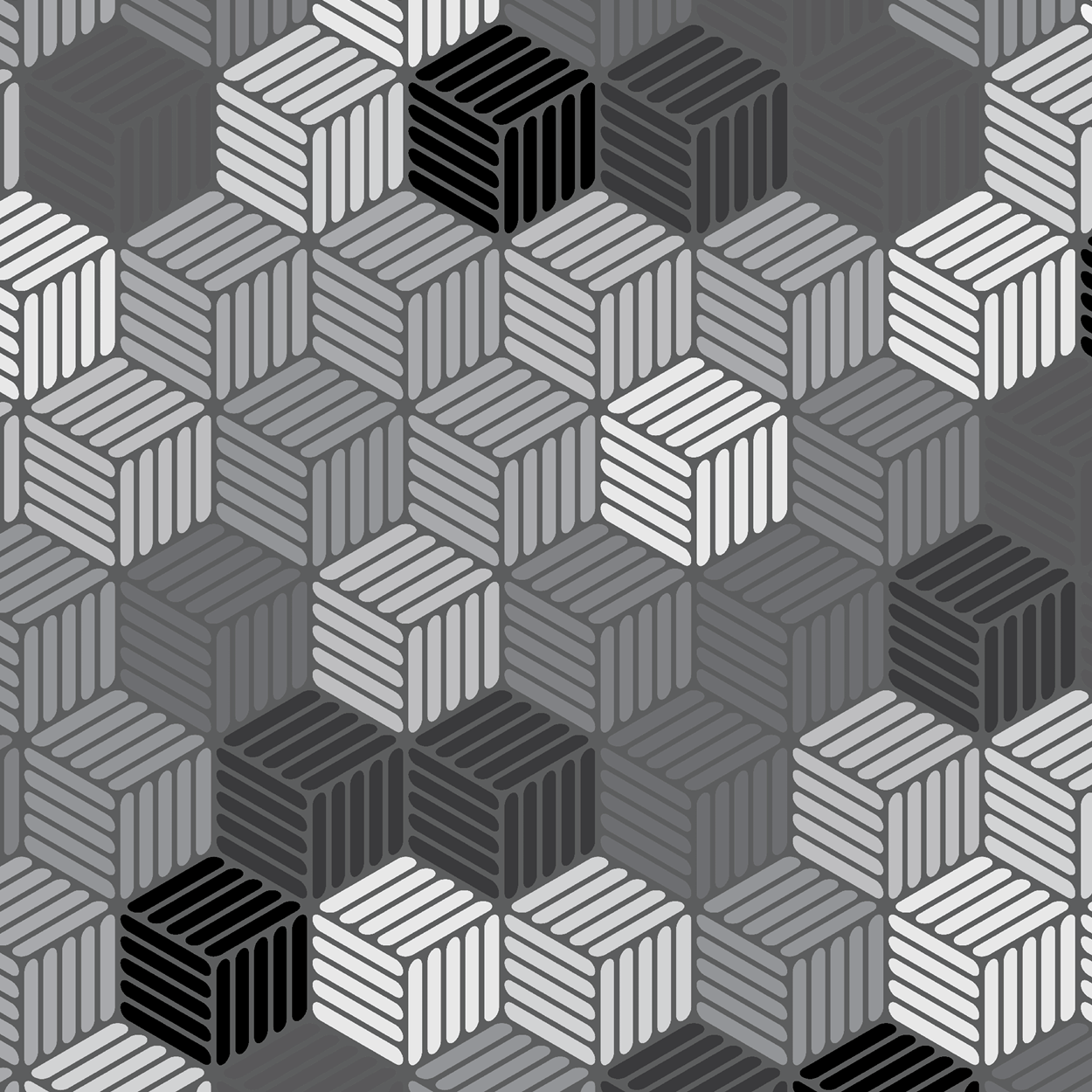Isometric Hashed Cube 9